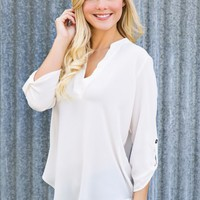 Lush: Take The Plunge Top- Ivory - NEW ARRIVALS