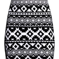 H&M - Patterned Jersey Skirt