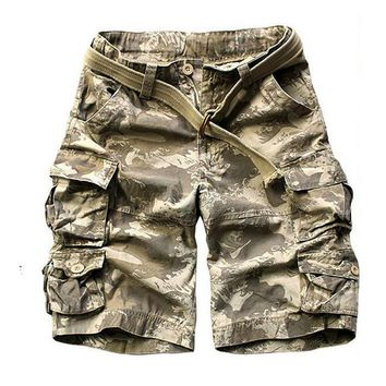 Summer Mens US Tactical Camouflage Cargo Shorts Army Special Police Soldier Clothes Camo Short Pants Plus Size