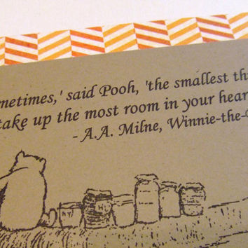 The Smallest Things Winnie the Pooh Quote by prettypetalspaper