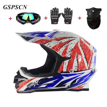 GSPSCN New Off Road Motorcycle DOT Adult Motocross Helmet ATV Dirt Bike Downhill Racing Half Helmet Cross Carbonifiber Helmet