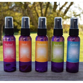 Archangel Sprays Gift Set - Michael, Uriel, Metatron, Raphael & Gabriel - Guardian Angel Mists