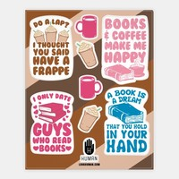 Coffee and Books Stickers