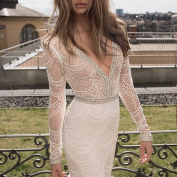 Berta Embellished Mesh Mermaid Gown (In Stores Only) | Nordstrom
