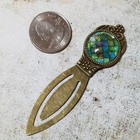 Dragon Scale Bookmark, Metal Bookmark with Dragon Scales