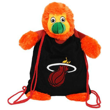 Miami Heat NBA Plush Mascot Backpack Pal