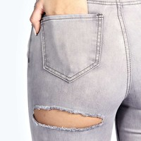 Abby High Rise Cheeky Rip Skinny Jeans