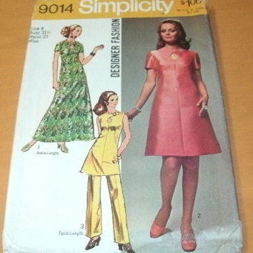 Vintage Sewing Dress Pattern Simplicity by roosvintagetreasures