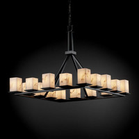 Justice Design Group FAL861515MBLK LumenAria Montana 16-Light Matte Black Ring Chandelier