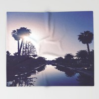 Venice Canals By Sunset Throw Blanket by Love Lunch Liftoff