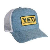 Deep Fit Foam Patch Trucker Hat in Chambray Blue by YETI