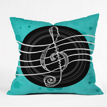 Lisa Argyropoulos Solo Aquatic Blues Outdoor Throw Pillow