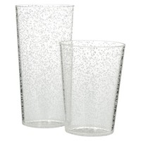 Room Essentials™ Bubble Plastic 8 Piece Drinkware Set - Clear