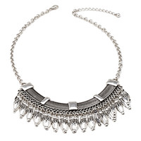 FOREVER 21 Feather Bib Necklace
