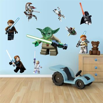 Star Wars movie wall stickers kids rooms home decoration 1428. diy cartoon yoda decals children gift mural art print posters 3.5