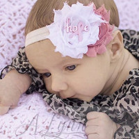 Hope Headband for Breast Cancer Awareness Month- Any Size