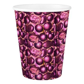 Pink Glam Pebbled Paper Cups