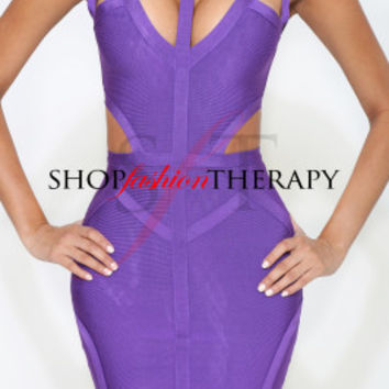 Victoria Purple Bandage Dress | Shop Fashion Therapy