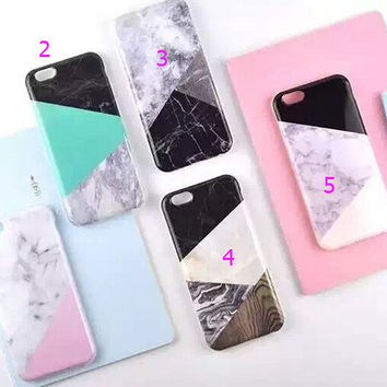 Mint Green Patchwork Marble iPhone 5se 5s 6 6s Plus Case Cover