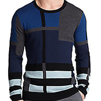 Burberry London - Wolsely Check Sweater - Saks Fifth Avenue Mobile