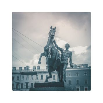 """The Horse Tamers"", St.Petersburg, Russia. Metal Print"
