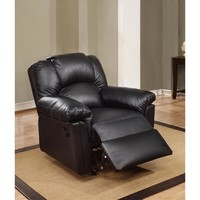 Bonded Leather Rocker/Recliner Black