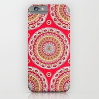 Mandala Burst in Red iPhone & iPod Case by Sarah Oelerich