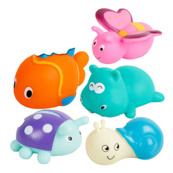 5 Creative Lovely Fish/Snail/Butterfly/Ladybird/Rhinoceros Squirt Bathtub Toys