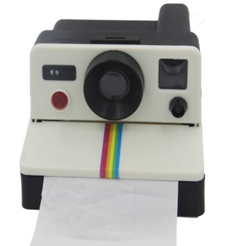 1Pcs/set Creative  Retro Polaroid Camera Shape Inspired Toilet Roll Box / Toilet Paper Holder