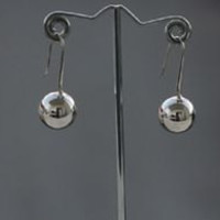 Sterling Silver Hanging Ball Earrings