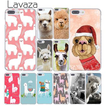 Lavaza cute the alpacas Alpaca Christmas Phone Case Hard Phone Case for Apple iPhone 8 7 6 6S Plus X 10 5 5S SE 5C 4 4S