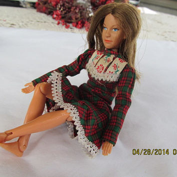 1974 Ellen Walton Jointed Skipper Barbie Doll Lorimar inc The Waltons TV Show Blue Eye Brunette Doll 70s Toy Collectible Doll 1970s