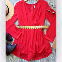 Zakynthos Playsuit- Red