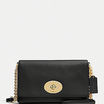 COACH CROSSTOWN CROSSBODY IN POLISHED PEBBLE LEATHER | Dillards.com