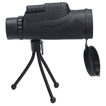NEW Arrival 12x50 Zoom Optical Monocular Telescope Lens Phone Camera Lens + Tripod For Outdoor Hiking Concert Telescope