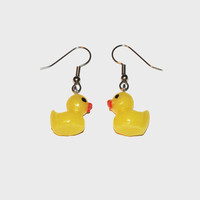 Rubber Duck Earrings, Rubber Duck Jewelry, Ducks, Kawaii Earrings