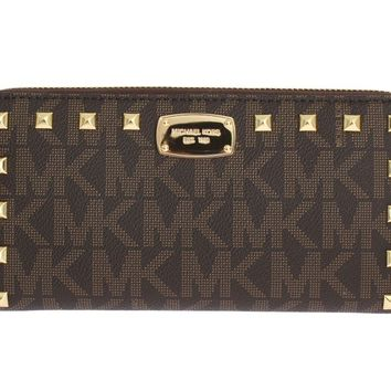 Brown JET SET ITEM Continental Wallet