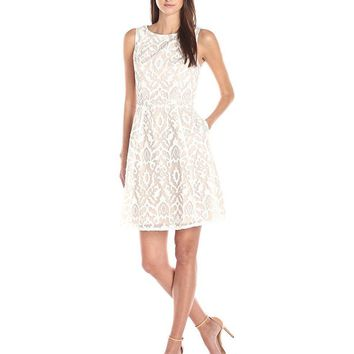 Adrianna Papell - Ornament Pattern Cocktail Dress 11251940