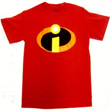 abb78830023 The Incredibles Superhero Logo Disney Pixar Licensed Adult T-Shi