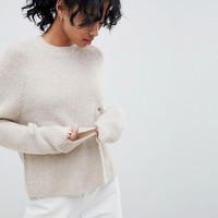 ASOS DESIGN fluffy jumper in rib at asos.com