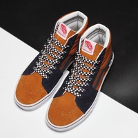 Vans Sk8-Hi New Pattern Canvas Old Skool Flats Sneakers Sport Shoes