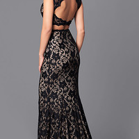JVNX by Jovani Long Two-Piece Lace Prom Dress