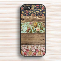 old wood style, IPhone 4s case,wood floral,IPhone 4 case,flower IPhone 5s case,IPhone 5c case,painted wood case,IPhone 5 case,An11198