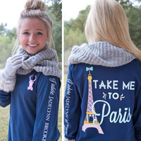 """Take Me to Paris"" - Jadelynn Brooke - Navy"