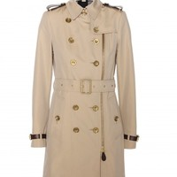 burberry brit - anthorn cotton trench coat