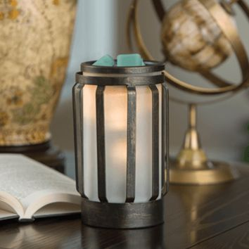 Hampton Metal and Glass Fragrance Warmer