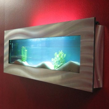 "Aussie Aquariums Wall Mounted Aquarium - Vista - 46.0"" x 17"" x 4.5"""