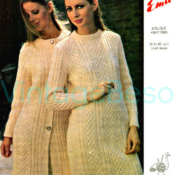 Aran Jumper Dress Knitting Pattern : Shop Knitted Sweater Dress Pattern on Wanelo