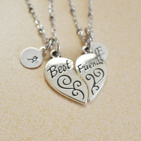 best friend necklaces,bff jewelry,personalized bff gift,sister necklace,friendship,long distance jewelry,heart jewelry,split heart necklace