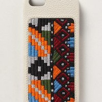 Serape Embroidered iPhone 5 Case by Anthropologie White One Size Jewelry